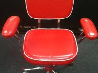 Cool Cherry Red Retro Swivel Chair - $40 (Oxford) Great