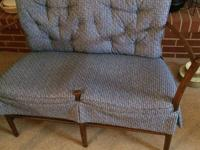 Beautiful furn, some antiques; retro loveseat, living