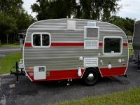 Call Hunter:  Nice cute, little Retro Travel Trailer,