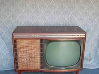 Check out this old school bubble tv and it even has a