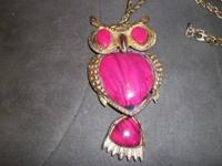Retro Fashion Vintage Big OWL Pendant with chain, these