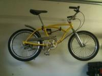 I have a cool retro Schwinn Stingray with custom paint,