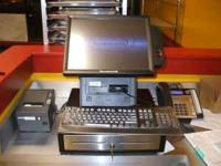 3 POS systems with cash drawers, drivers stations and