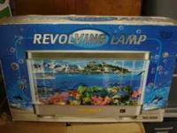 Revolving Fish Lamp $10 never used Call  Search my