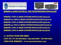 Rheem 16 SEER Split Systems Installed. Rheem 16 Seer 2
