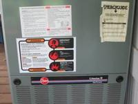 This is a downflow Rheem furnance plus the air