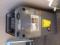 Rheem Gas Furnace with RXGW-BOI Chimney adaptor. Less