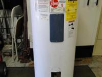 Rheem 40 Gallon Electric 220v Water Heater Works Good,