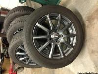 "Set of 4 Rial Milano wheels (Titanuim Gun Metal) 16'"" x"