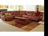 This soft, handsomely tailored leather sectional sofa