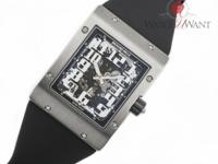 Massive flat Rectangular Titanium Case measures 38mm x