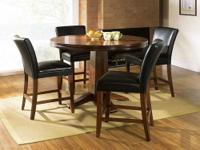 RICHIE COUNTER HEIGHT DINING SET * Made of solids with