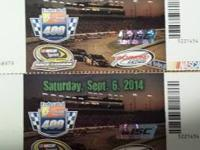 2 tickets to Richmond International Raceway for the