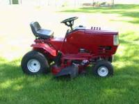 This is a 42 inch cutting mower with new blades and