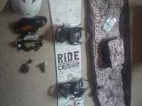 im selling my barely used snow board with bindings both