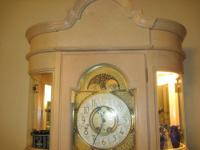 Beautiful Ridgeway lighted curio-style Grandfather