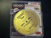 "RIDGID 10"" 90 TOOTH CARBIDE SAW BLADE. NEW (NEVER USED)"