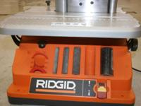 Ridgid Oscillating/Spindle, Edge/Belt Sander: Just like