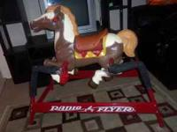 Radio flyer riding horse it's about 51L x 28W x 36H