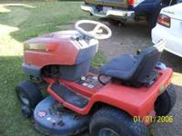 "SCOTTS 42"" riding lawn mower. Runs good. Front tire"