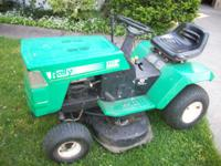 For sale, Rally (MTD) riding lawn mower. 12 hp electric