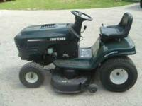"42"" Craftsman 6 speed riding lawn mower. 15.5 Kohler"