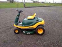 Yardman Riding Lawn Mower, 8 1/2 hp, has small rip in