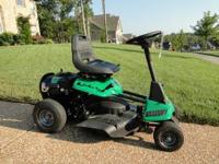 "Weed Eater One 26"" Gas Riding Lawn Mower --Like new."