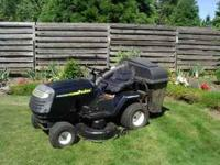 "Poulan Riding Mower, 42"" 14.5 HP Briggs Straton engine,"