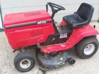 For Sale is a MTD Riding Lawn Mower. 42 in. deck, 12 HP