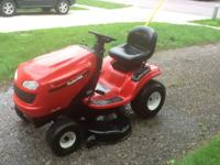 "Poulan Pro 20 horse power 46"" cut lawn tractor. Used"