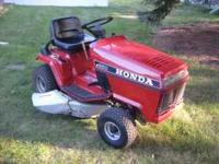 "THIS IS A VERY NICE HONDA HT3810 38"" DECK 10HP HONDA"
