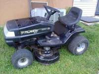 This riding lawn mower works great but is in need of
