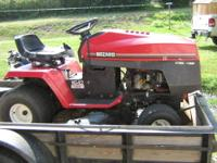 "WIZARD V TWIN HV16HP 42"" CUT 6 SPEED, new battery, good"