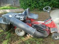 Riding lawn mower in good condition just needs a