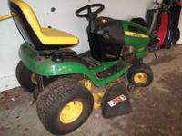John Deere mower LA120 only 3 years old & low hours.