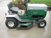 "42"" Cut. 16hp Twin I/C Briggs. Very good condition."
