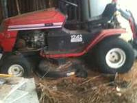 Riding lawn mower no motor $50.00 The steering doesnt