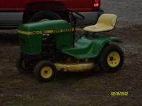 JOHN DEERE 108 RUNS GOOD.MOWS GOOD 38 INCH CUT 325.00