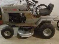 Here is a sears craftsman lt1036 riding mower. It runs,