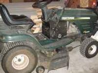 Craftsman riding mower. Runs well, needs starter and