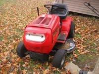 "Older Ace 12HP, 42"" riding mower. Cuts well, starts"