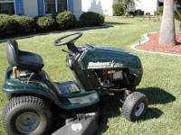 Nice Bolens riding mower - runs good. Call Bob at  if