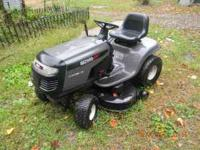 "for sale a wizard 17 hp b&s riding mower 42"" cut looks"