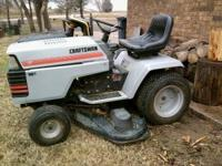Mower runs good, mows excellant, starts up everytime,