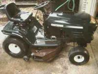 "I have here a craftsman riding mower. 42"" with"