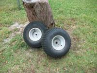 mtd riding mower rear tires 20X8.00-8 on wheels. will
