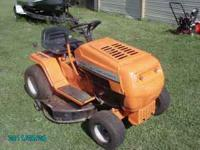 This mower has a brand new paint job, 14 hp v-twin