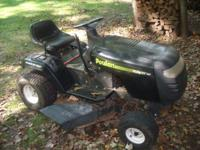 I need room so I am selling my extra lawn equipment,