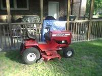 48 inch cut riding snapper mower. Runs great. 500 or